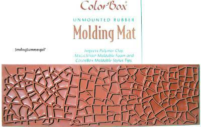 Polymer Clay Molding Mat Texture Rubber Stamp Crackle