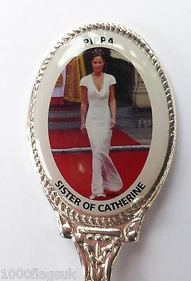 Pippa Middleton Sister of Kate Royal Wedding Collector's Spoon Silver Plated