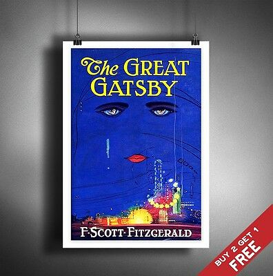 A3 THE GREAT GATSBY Photo Poster Vintage Picture Book Cover F SCOTT FITZGERALD