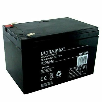 3 X ULTRA MAX 12V 12AH (14AH 15AH same dimensions) GEL Battery POWABYKE