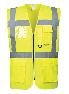 Executive hi vis vest Hi Viz Jacket Safety Work Wear Cycling  sizes s-xxxl  S476