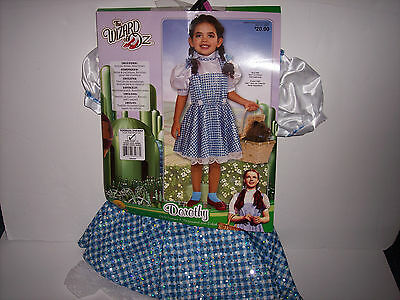THE WIZARD OF OZ DOROTHY COSTUME SIZE TODDLER 2-4 NEW!!! FREE SHIPPING!!!