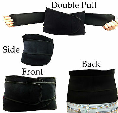 1 x Neoprene Double Pull Strap Lumbar Wasit Support Lower Back Belt -Pain Relief