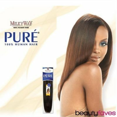 """Pure Yaky Weave By Milkyway 100% Human Hair Extension 8"""" 10"""" 12"""" 14"""" 16"""""""