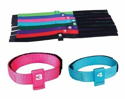 Total Pet Puppy ID collars set 8 numbered color coded litter bands