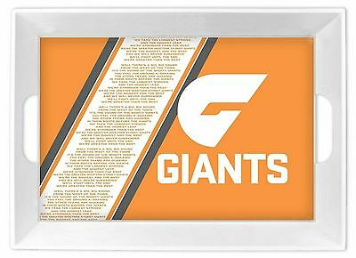 Greater Western Sydney Giants AFL Melamine Team Song Serving Tray
