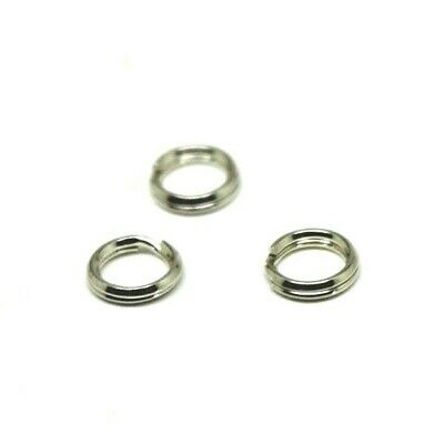 Kaedesigns 925 Sterling Silver Split Ring Many Sizes 5Pcs Or 10Pcs