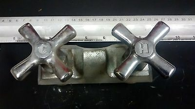 Old Antique Original Art Deco Hot/Cold Faucet Tap Tub or Sink Handles