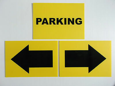 Event Signage - Parking With Arrows Kit For Car Boot Sale Fete Gymkhana (24-20)