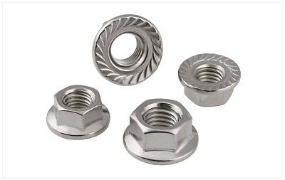 5-100pcs Metric DIN6923 Stainless Steel Hex Flange Nut Hexagon Nut M3 to M12