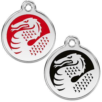 Personalised / Engraved Dog / Cat ID identity Tags / discs Dragon  by Red Dingo