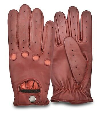 Driving Gloves Leather VINTAGE TRADITIONAL Soft CLASSIC SLIM FIT LOOK CHAUFFEUR