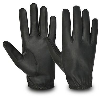 Mens Driving Gloves Genuine Leather Slim Fit Chauffeur Traditional Vintage Glove