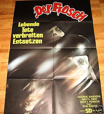 Don Sharp DER FROSCH George Sanders Horror Plakat