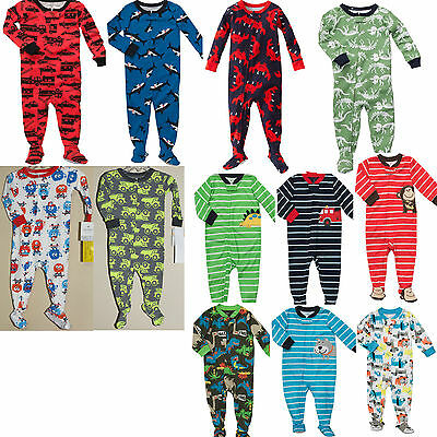 NWT $22 Carter/'s Boys Footed Pajamas Jersey Cotton 12 18 24 Months 2T 3T 4T 5T