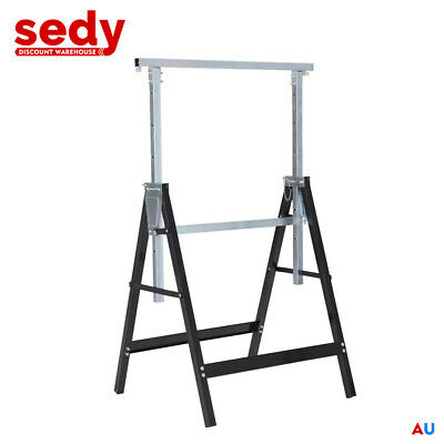 Telescopic Trestle Saw Horse Foldable Steel Work Stand Workbench Support