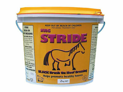 NRG Stride Natural Black Hoof Dressing Horse Pony Grease Oil Stables show 2 KG