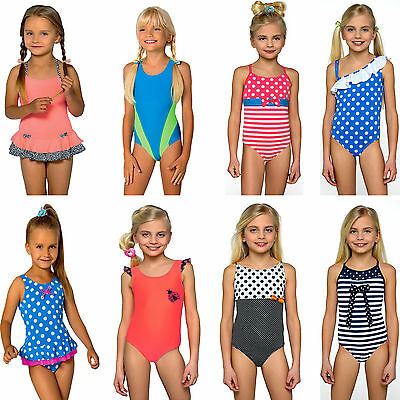 Kids Girls Swimsuit  Swimwear Swimming Costume Beachwear 2-13 years NEW