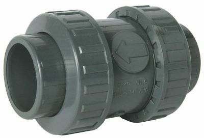 Pvc Solvent Weld Double Union Spring (Non-Return) Check Valve - Epdm Seat
