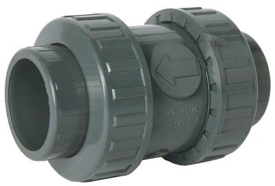 Pvc Bsp Threaded Double Union Spring (Non-Return) Check Valve - Epdm Seat