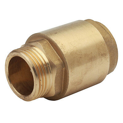 "BRASS BSP SPRING CHECK VALVE - MALE x FEMALE ENDS - 1/2"" To 2"" - NON RETURN"
