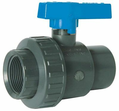 "Pvc Bsp Threaded Single Union Ball Valve - Epdm Ring  -  1/2"" To 4"""