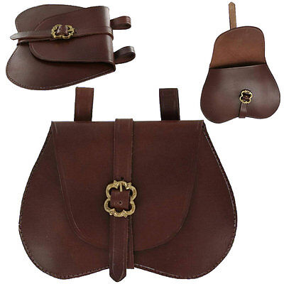 Leather Medieval Belt POUCH for Rennie Faire Pirate SCA LARP Festival Bag Ren