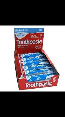 HATCHWELLS TOOTHPASTE FOR DOG CAT PUPPY KITTEN - 45g TUBE MEAT FLAVOUR