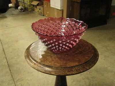 Cranberry Opalescent Crown Point Lamp Shade