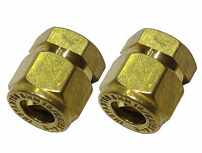 8mm Compression Stop End Caps (2 Pack) Brass Plumbing Fittings