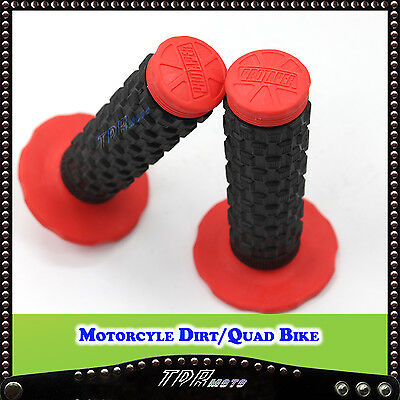 Red Motorcycle Hand grips HONDA ATV Quad Bike TRC450ER TRX250X TRX90X