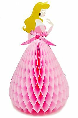 Disney Princess Aurora Honeycomb Pop Up Greeting Card - Birthday Pop Up Card