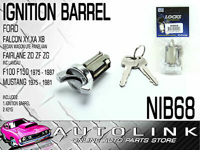 Ignition Barrel To Suit Ford F-Series F100 F150 F250 1975 - 1987 Includes 2 Keys