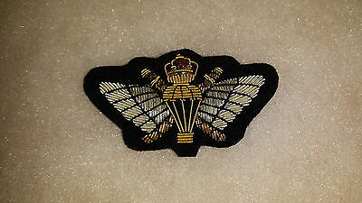 Oman Sas Omani S.a.s. Special Air Service Officer's Bullion Wire Parachute Wing