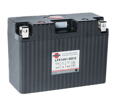 Shorai LFX14A1-BS12 Lithium Iron Motorcycle Battery - Replaces YT9B YT12B YT14B