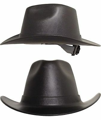 Occunomix Cowboy Style Hard Hats Ratchet Susp Black Gray Tan White FAST SHIP!