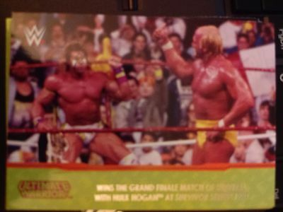 2014 Topps WWE Road to Wrestlemania Champion Spotlight Ultimate Warrior #6 NM-MT