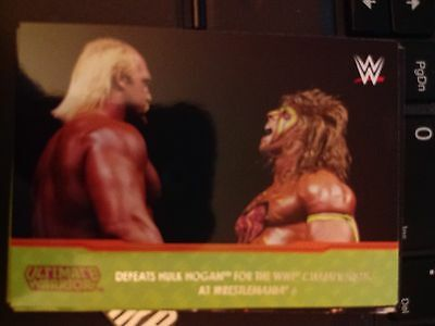 2014 Topps WWE Road to Wrestlemania Champion Spotlight Ultimate Warrior #4 NM-MT