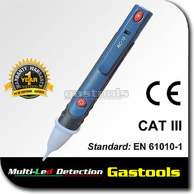 Pro Non Contact Voltage Stick Volt Detector Cat3 Multi Led Detection