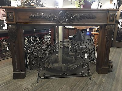 Grand Hand Carved Wood Mantle (Item # FM-D)