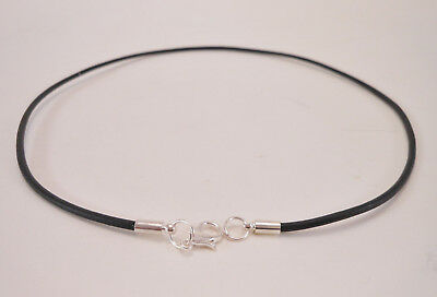 Leather Cord Surfer Choker Necklace with Silver Lobster clasp- Unisex - Made USA