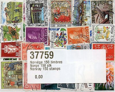 Timbres Europe / Norvege : 100 Timbres Tous Differents /  Stamps Norway