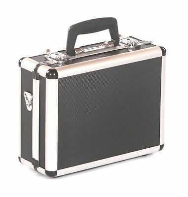Crystal aluminium hard camera photography flight carry case storage box black