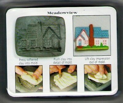 Country Series Push Mold by AMACO House Fronts Ridge Row