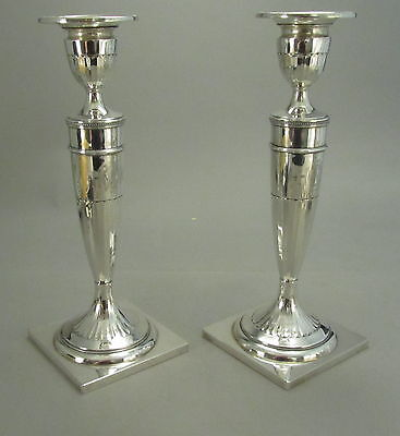 Gorgeous Pair of Antique Sterling Silver Candlesticks Dominick & Haff