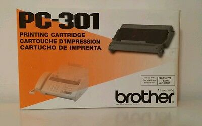 4 Brother PC301 Thermal Transfer Print Cartridges, Black - BRTPC301