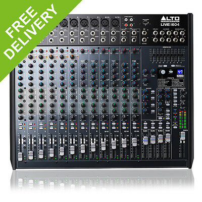 Alto Professional LIVE1604 16 Channel PA Mixer Live Mixing Desk + DSP Effects