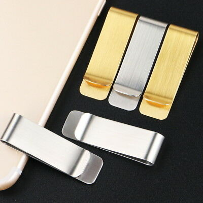 New Wholesale Lots Man/Woman Bank Metal Stainles Money Clip Silver Gold 4 Types
