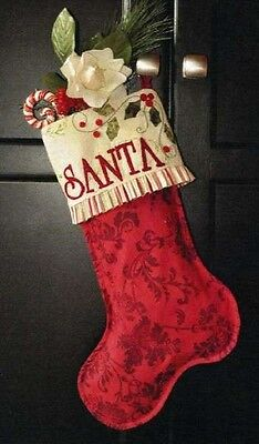 ENCHANTED HOLIDAY STOCKING by Shabby Fabrics  pattern Quilting Applique