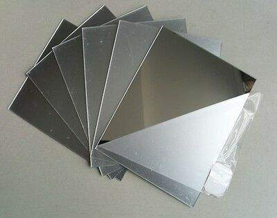 ACRYLIC MIRROR 100mm x 100mm  SHEET PLASTIC  PERSPEX PLEXIGLASS SAFETY PANEL